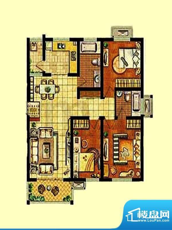 金东城世家一期30幢面积:97.13平米