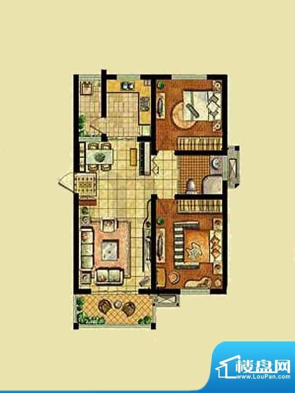 金东城世家一期29幢面积:85.33平米