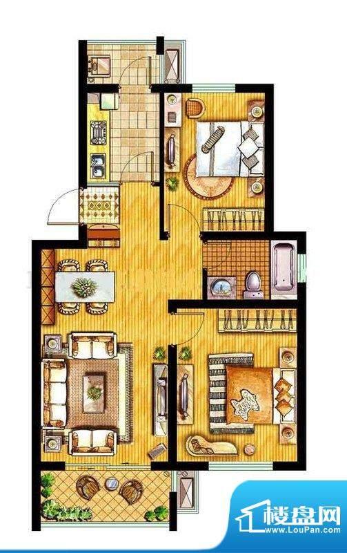 金东城世家一期22、面积:83.78平米