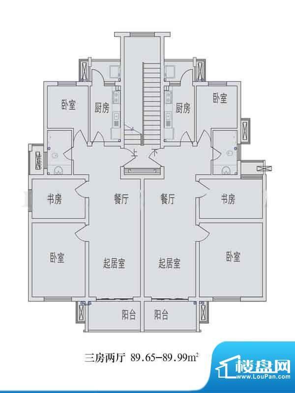 金东城世家一期21幢面积:89.77平米