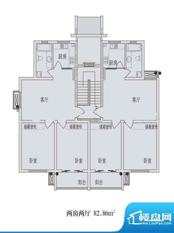 金东城世家一期20幢面积:82.86平米