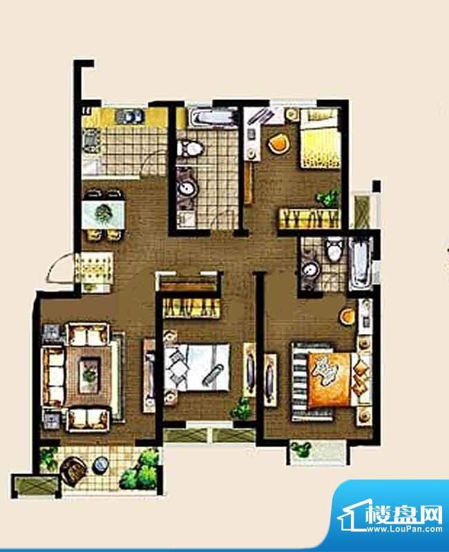 金东城世家一期14、面积:119.57平米