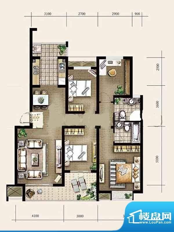 金东城世家一期11幢面积:128.57平米