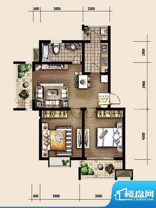 金东城世家一期4、6面积:87.58平米