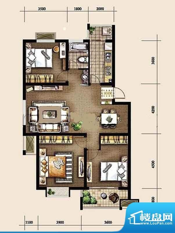 金东城世家一期3、9面积:110.96平米
