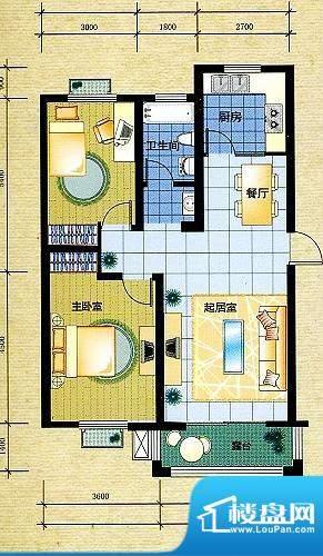 盘金华府一期2号楼标面积:90.51平米