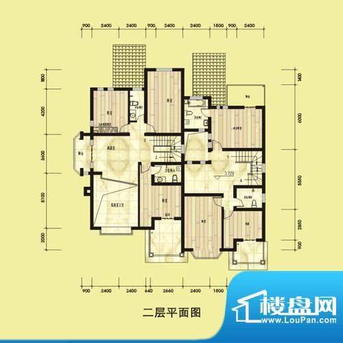 双湖明珠一期别墅52面积:195.00平米