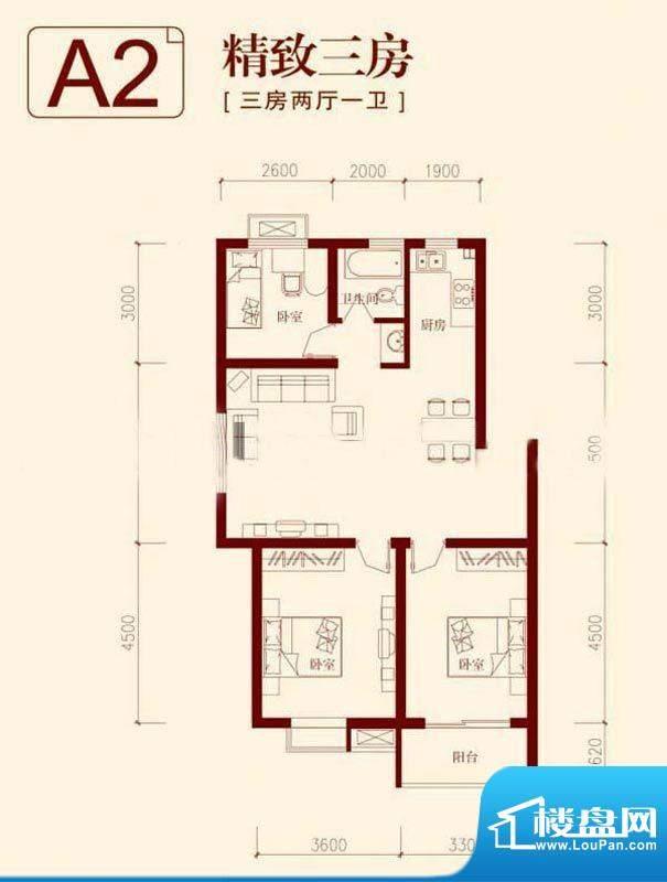 垠领城市街区一期1、面积:97.56平米
