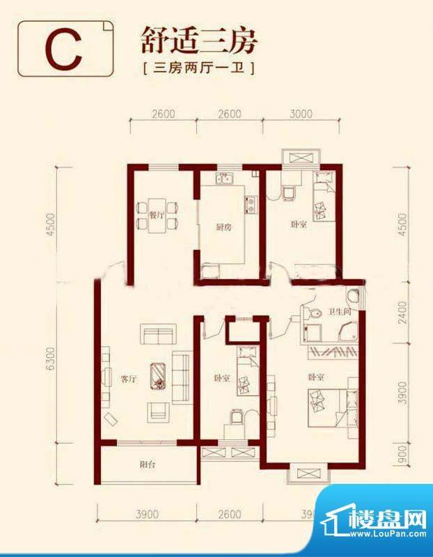 垠领城市街区一期4、面积:120.73平米