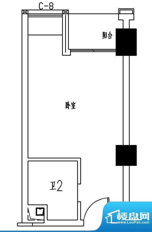 融信滨港花园5号楼0面积:34.00m平米