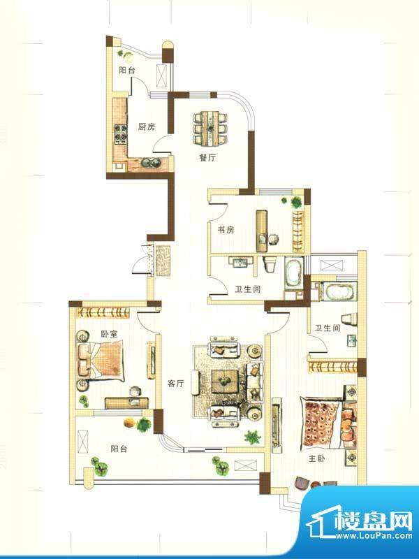 和馨花园C户型 3室2面积:140.00m平米