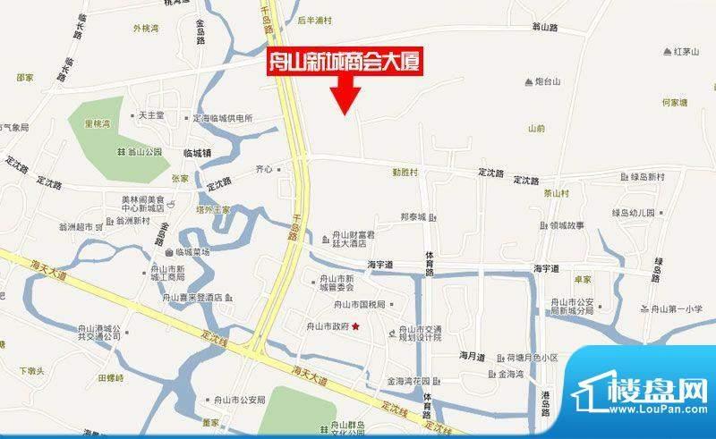 舟山新城商会大厦交通图