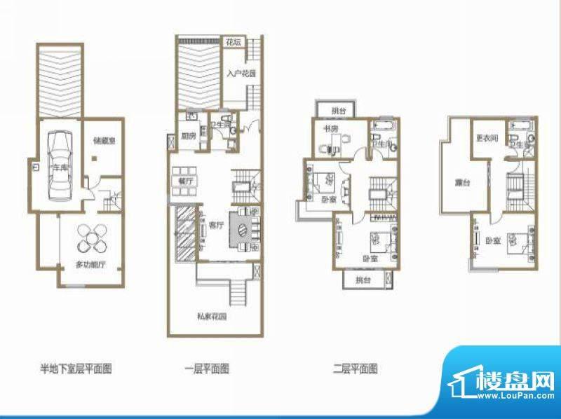 龙池翠洲三期别墅1、面积:264.68平米