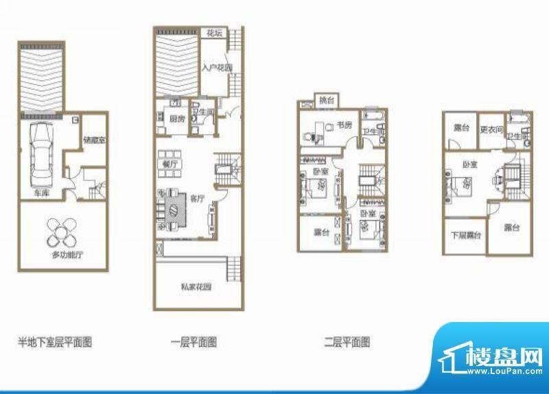 龙池翠洲三期别墅2、面积:271.03平米