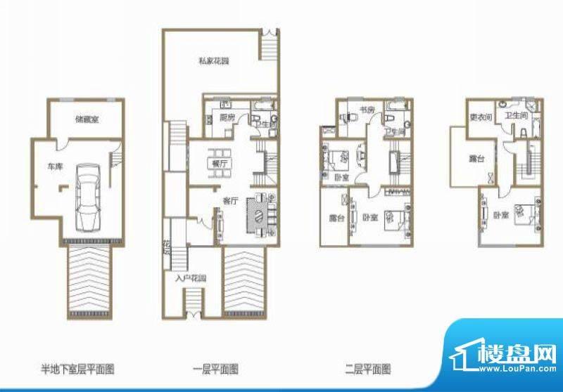 龙池翠洲三期别墅8幢面积:261.80平米