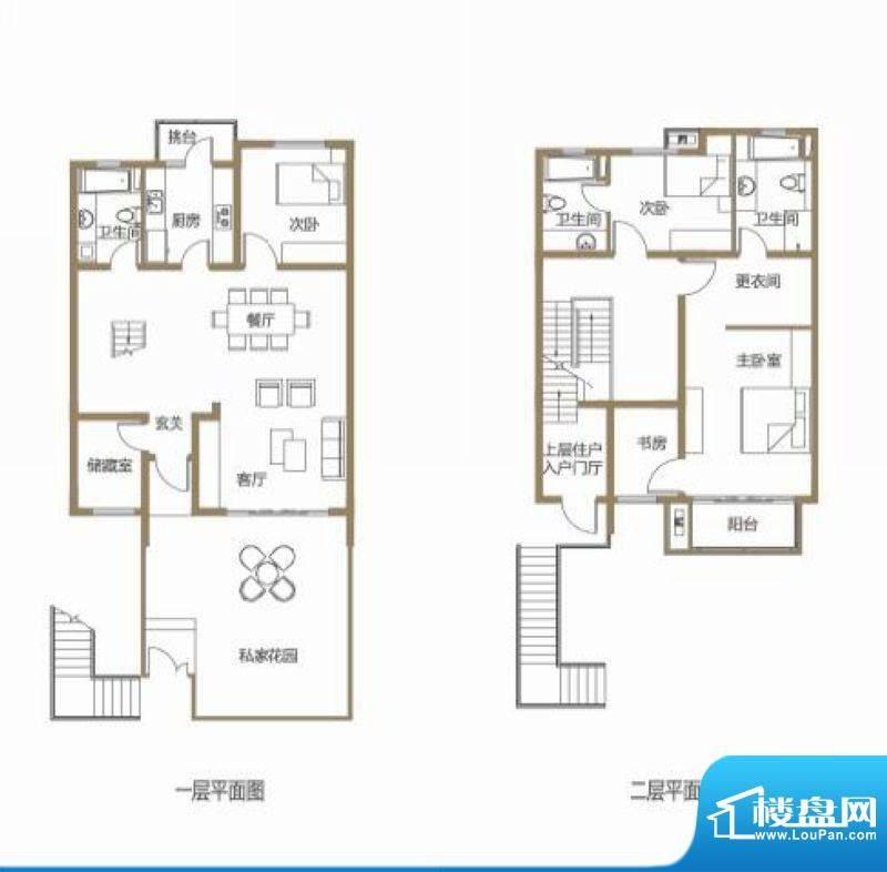 龙池翠洲三期别墅6、面积:168.80平米