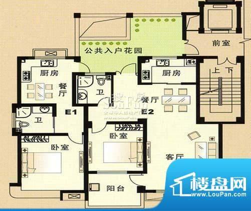 兴和苑户型图九面积:0.00平米