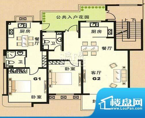 兴和苑户型图十一面积:0.00平米
