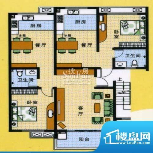 怡沁苑户型图四面积:129.44平米