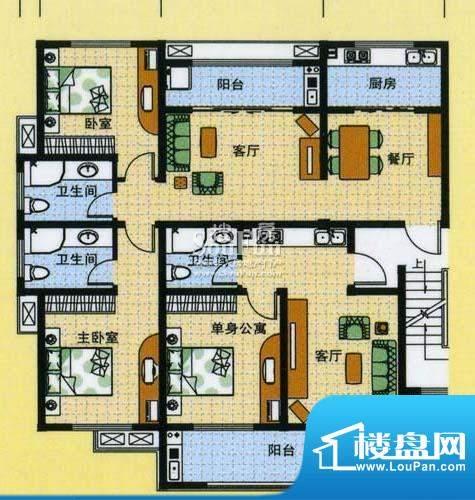 怡沁苑户型图七面积:141.09平米