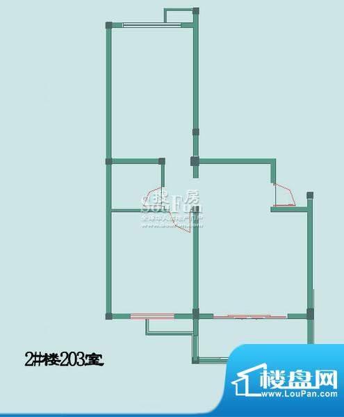 怡沁苑户型图十面积:82.20平米