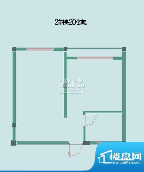 怡沁苑户型图九面积:47.24平米