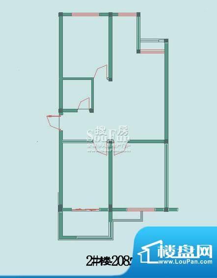 怡沁苑户型图八面积:92.91平米