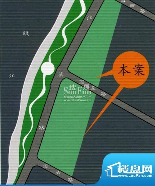 瓯江花苑交通图