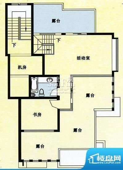 人和佳苑阁楼层户型面积:63.00平米