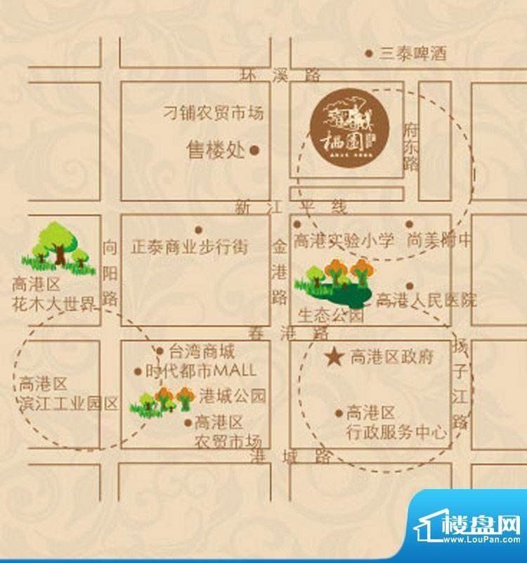 栖园交通图