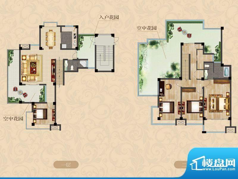 栖园叠加别墅C-2户型面积:0.00m平米