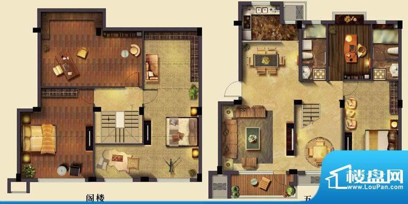 美岸栖庭I户型 3室2面积:119.00m平米