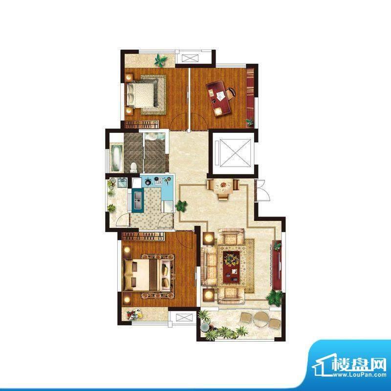 美好易居城户型B-7 面积:111.85m平米