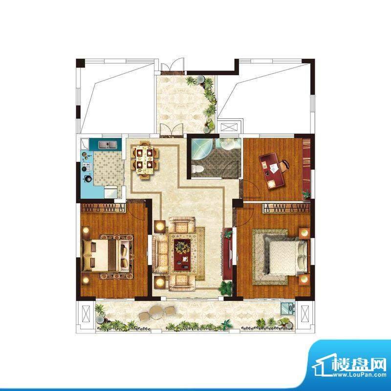 美好易居城户型B-2 面积:0.00m平米