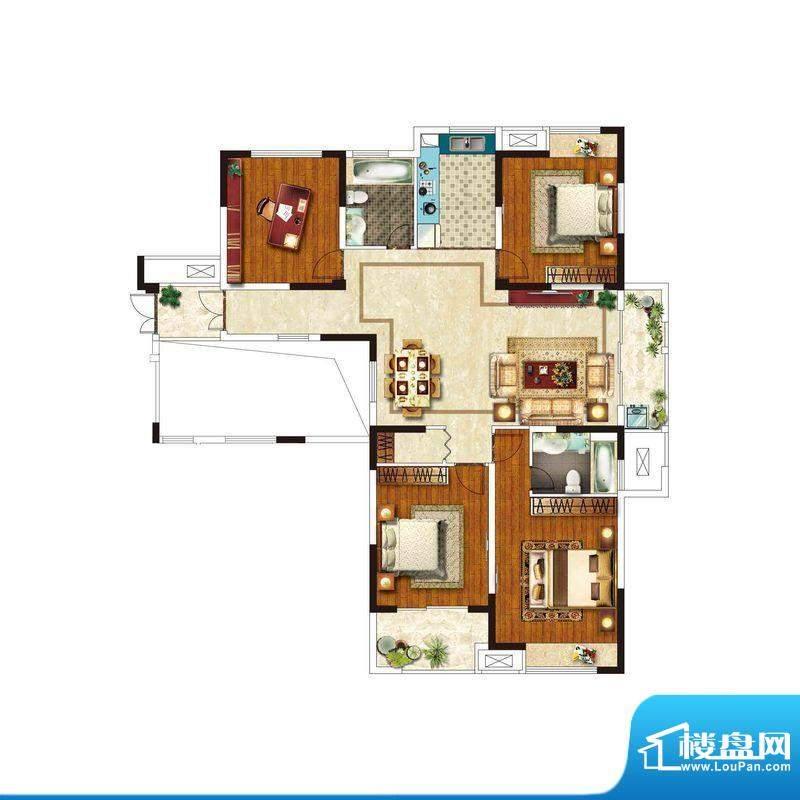 美好易居城户型D-1 面积:159.35m平米