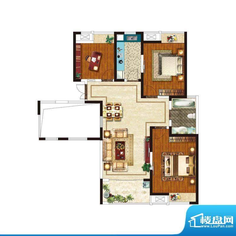美好易居城户型B-5 面积:120.10m平米