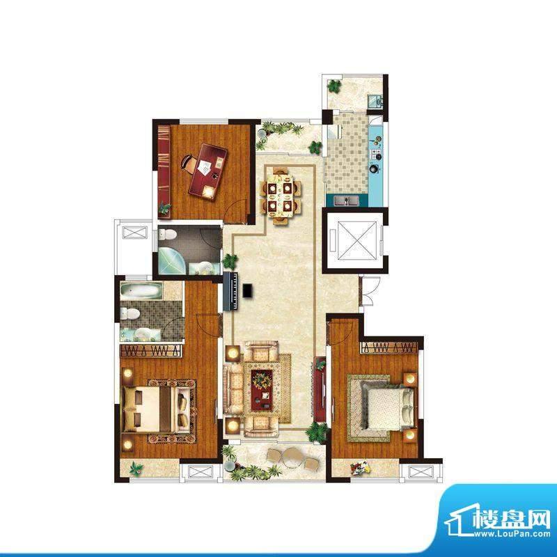 美好易居城户型C-1 面积:140.28m平米
