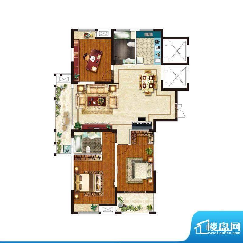 美好易居城户型C-3 面积:143.96m平米