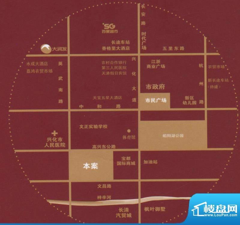 尚城一品交通图