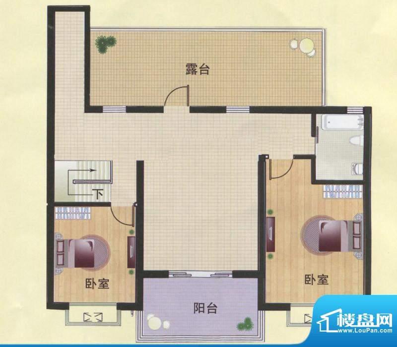 东方明珠阁楼C1A户型面积:134.00m平米