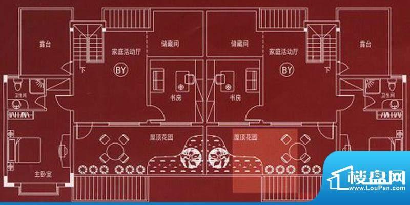 万嘉名城户型BY 5室面积:186.10m平米