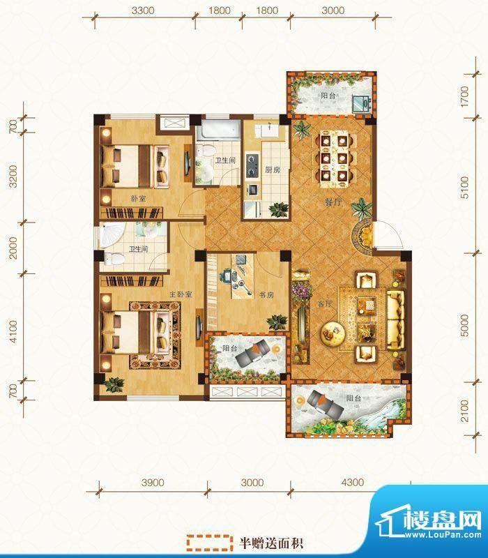 泰州明发国际广场G户面积:124.33m平米