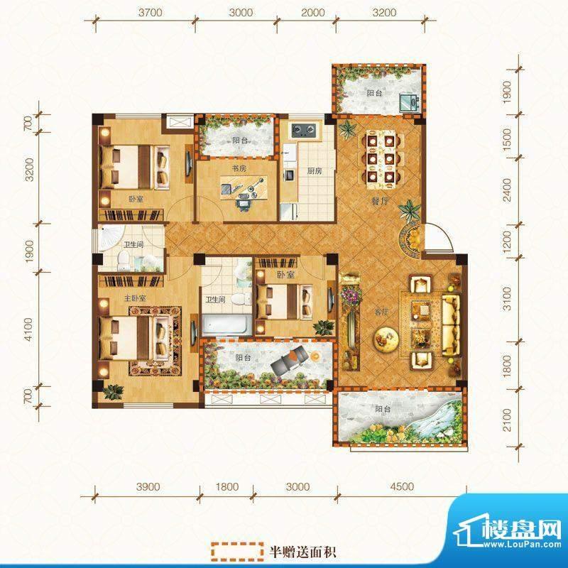 泰州明发国际广场E户面积:138.05m平米