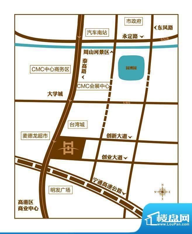 恒元城交通图
