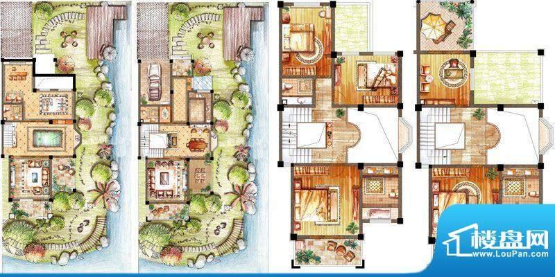 恒元城别墅 3室4厅5面积:288.00m平米