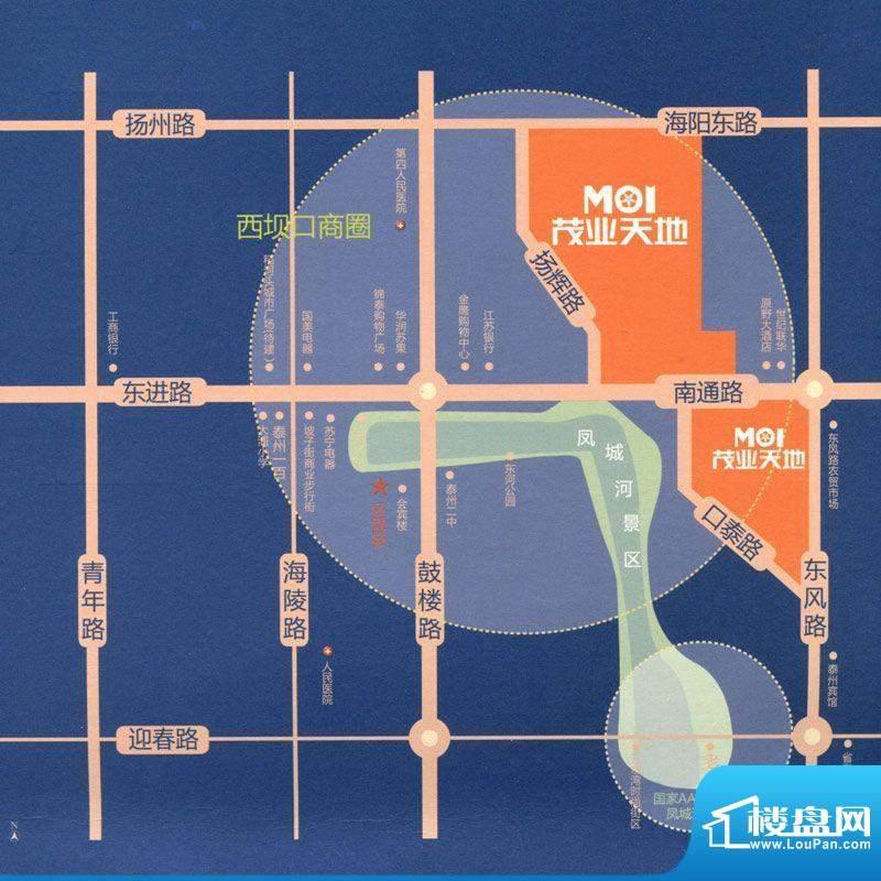 茂业天地交通图