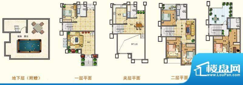 将军一品B户型 5室3面积:303.63m平米