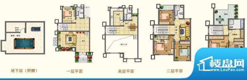 将军一品C户型 5室3面积:311.20m平米