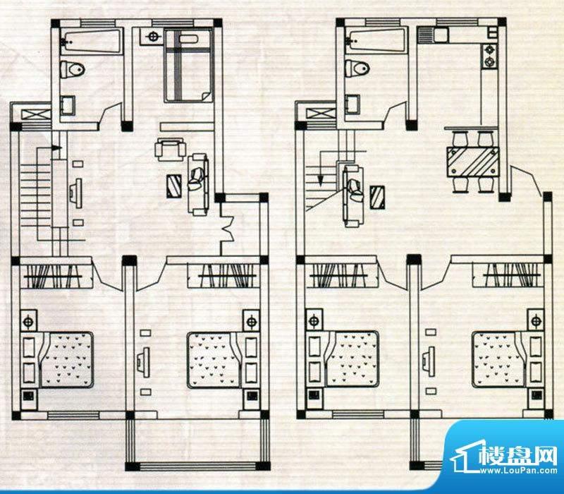 嘉鸿豪庭户型F 5室2面积:174.00m平米