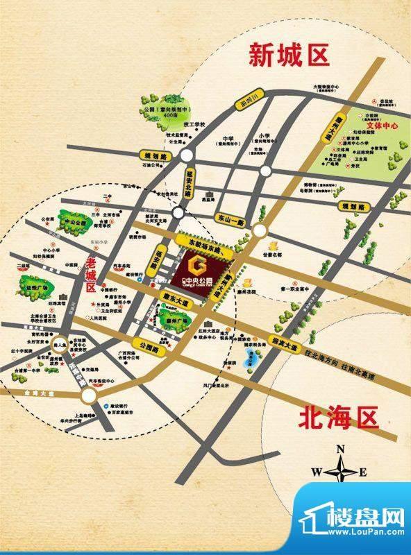 广益·中央公园交通图
